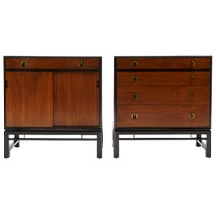 Pair Storage Cabinets by Edward Wormley for Dunbar.  Mahogany and Rosewood.