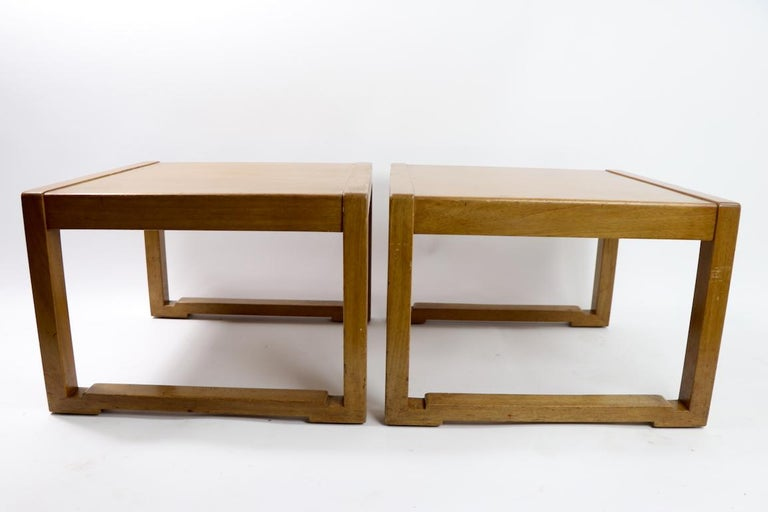 Pair of Tables designed by Wormley for Dunbar For Sale 6