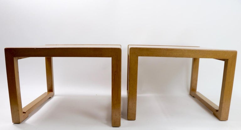 Mid-Century Modern Pair of Tables designed by Wormley for Dunbar For Sale