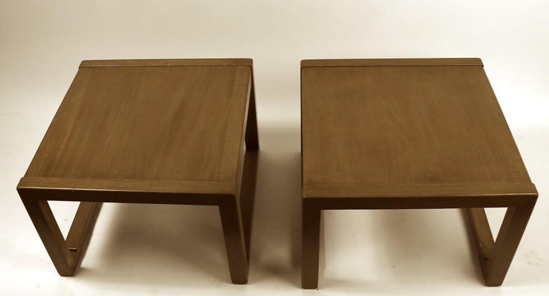 American Pair of Tables designed by Wormley for Dunbar For Sale