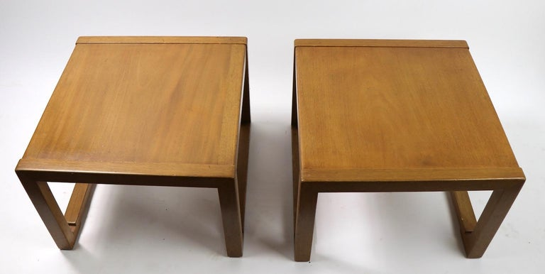 Pair of Tables designed by Wormley for Dunbar In Good Condition For Sale In New York, NY