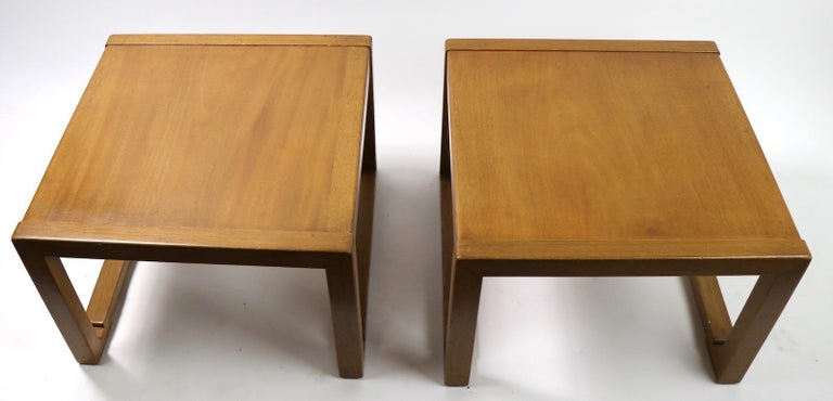 20th Century Pair of Tables designed by Wormley for Dunbar For Sale
