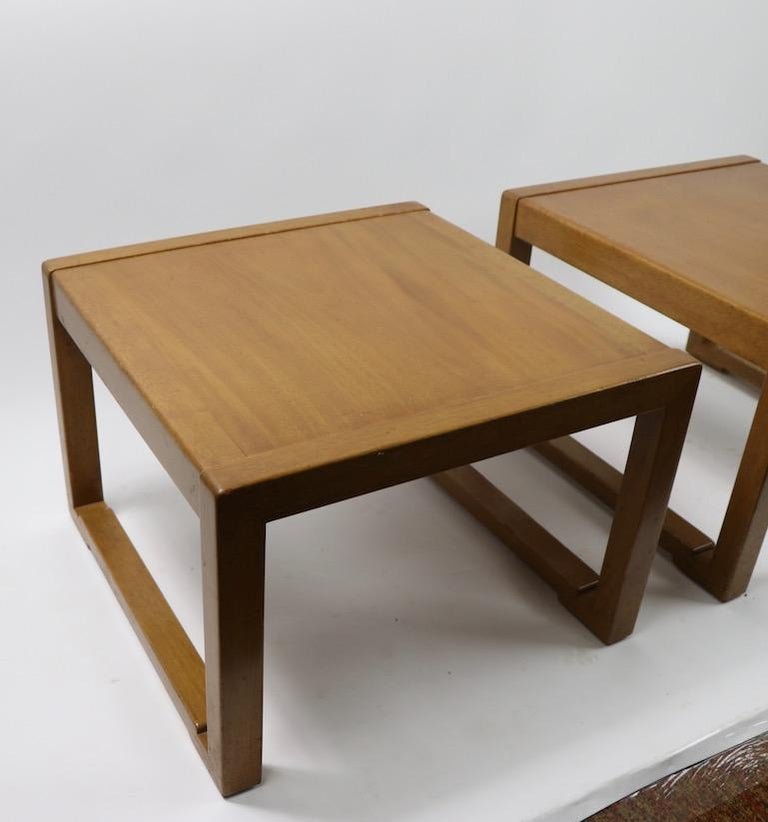 Pair of Tables designed by Wormley for Dunbar For Sale 2