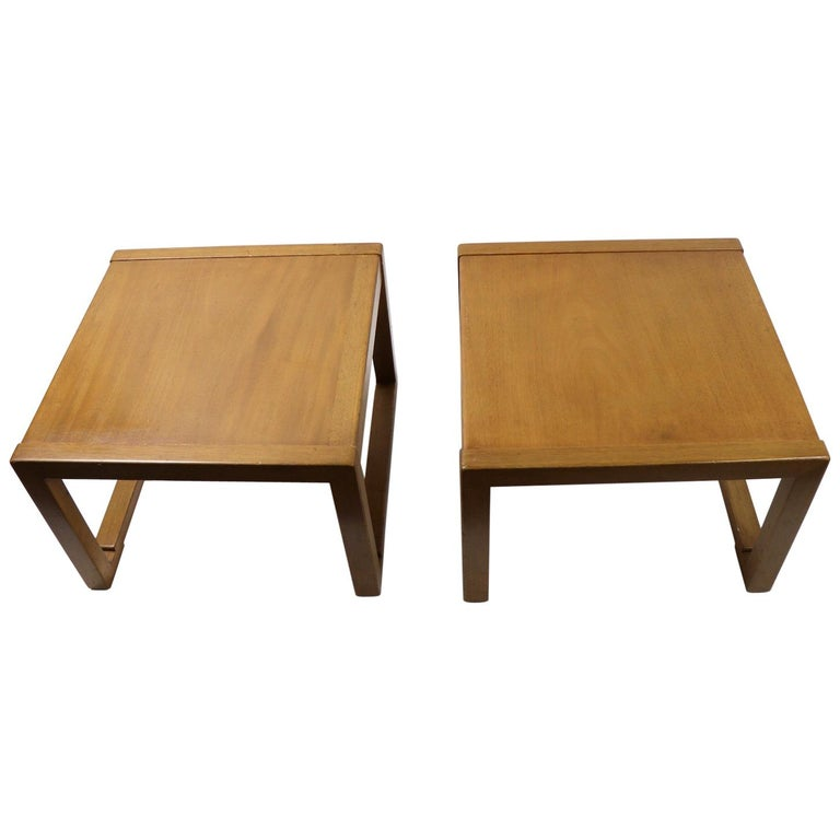 Pair of Tables designed by Wormley for Dunbar For Sale