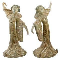 Pair Tang Dynasty Dancing Figures, China '618-907AD'
