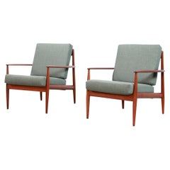 Teak Danish Grete Jalk Model 118 Armchairs by France and Daverkosen, 1950s, Pair