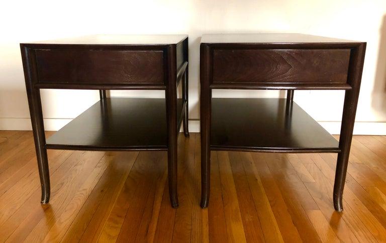 American Pair TH Robsjohn-Gibbings End Tables For Sale