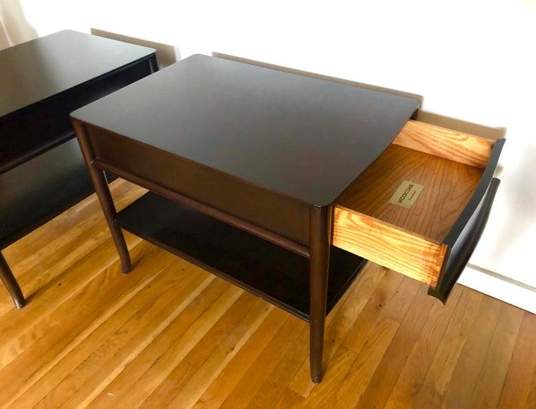 Pair TH Robsjohn-Gibbings End Tables For Sale 3
