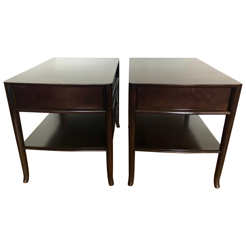 Pair TH Robsjohn-Gibbings End Tables