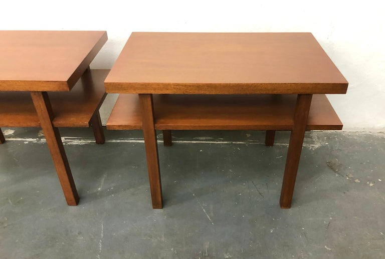 Mid-20th Century Pair T.H. Robsjohn Gibbings Tiered Side Tables For Sale
