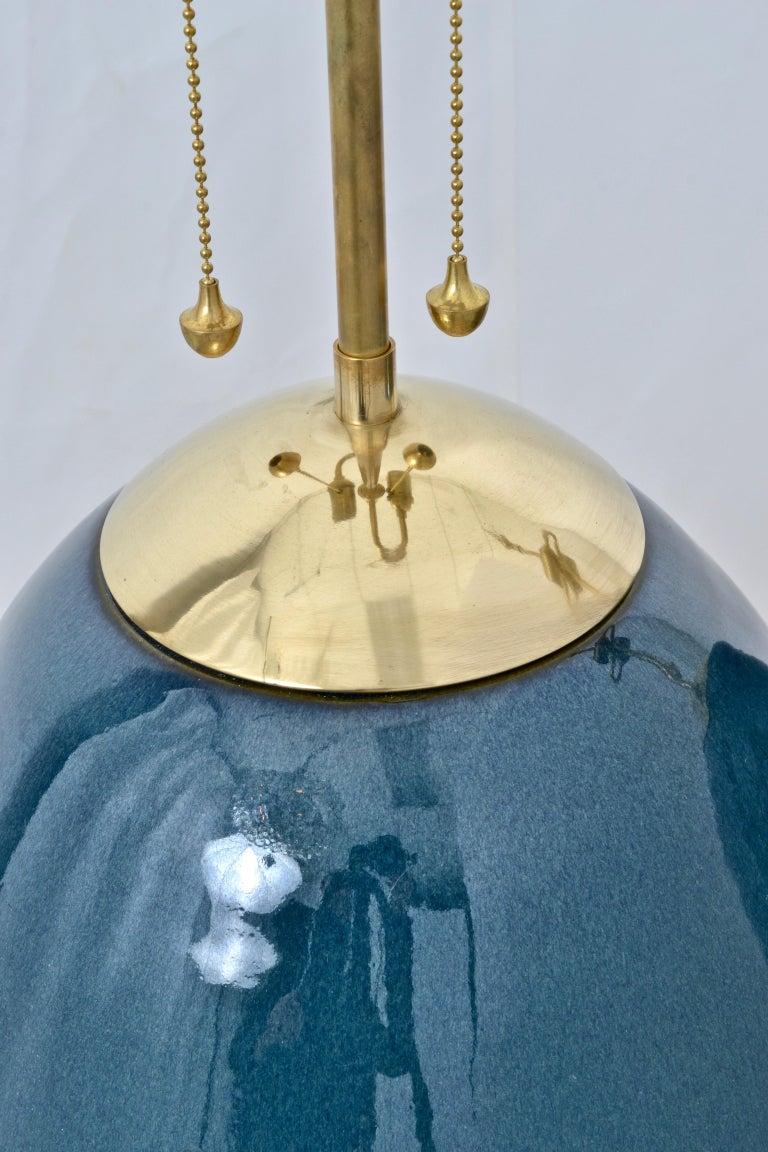 Ceramic Pair Thomas O'Brien for Visual Comfort Ciro Table Lamps For Sale
