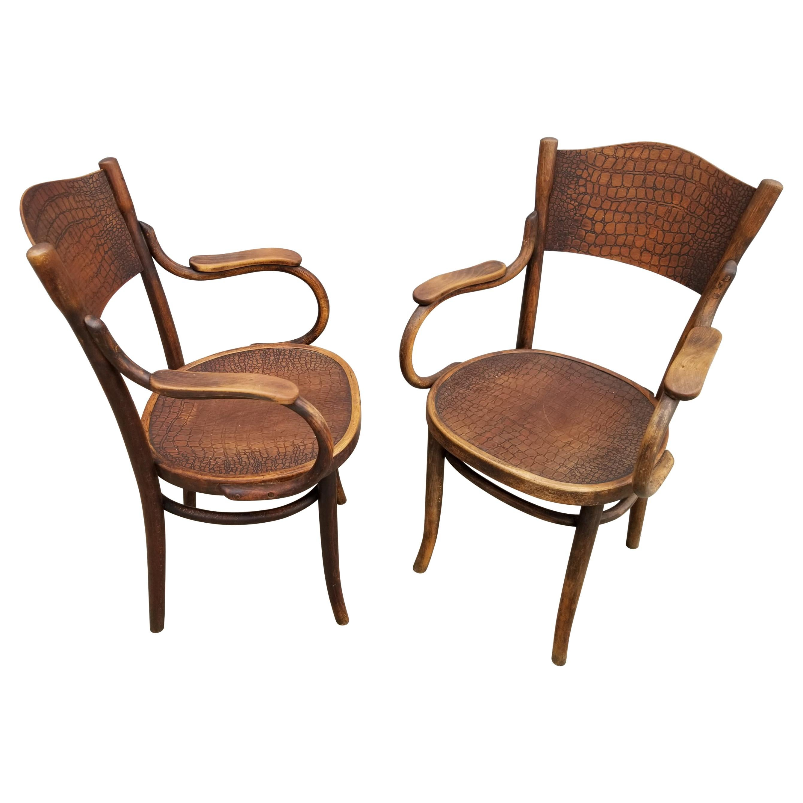 Pair of Thonet Bentwood Chairs, Early 20th Century