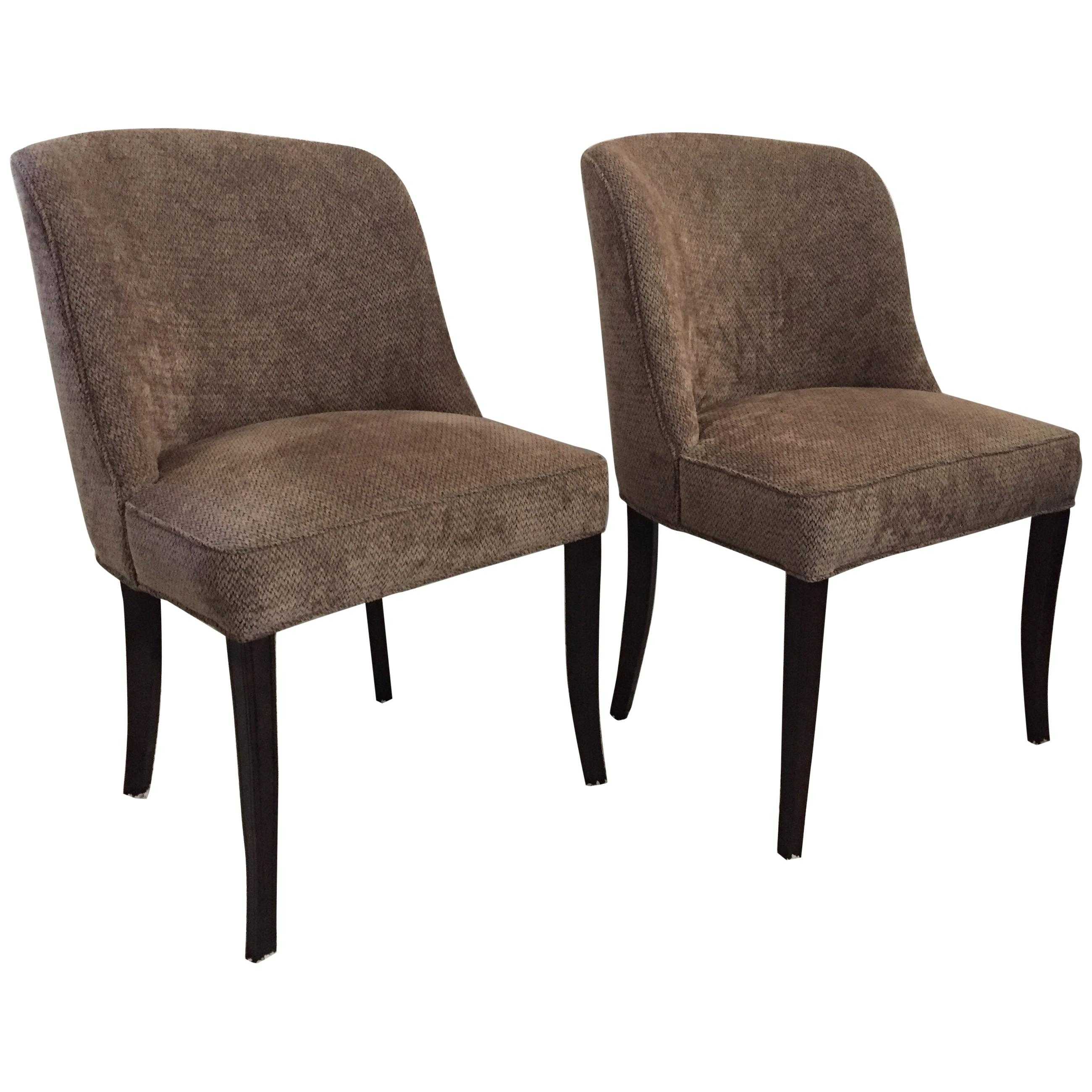 Pair of Tommi Parzinger Chairs/ Captains Dining Chairs Charek Modern