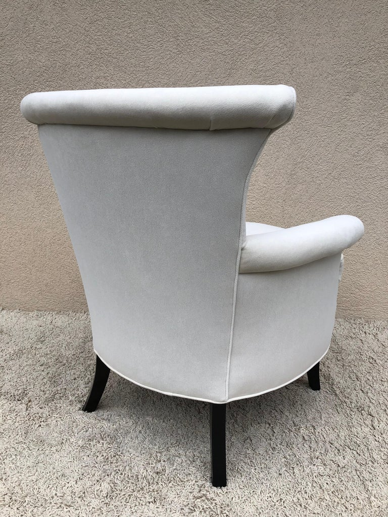 Pair of Tommi Parzinger Petite Slipper Chairs/ Club Arm Chairs For Sale 2