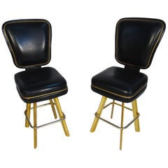 Pair of Trump Plaza Bar Stools