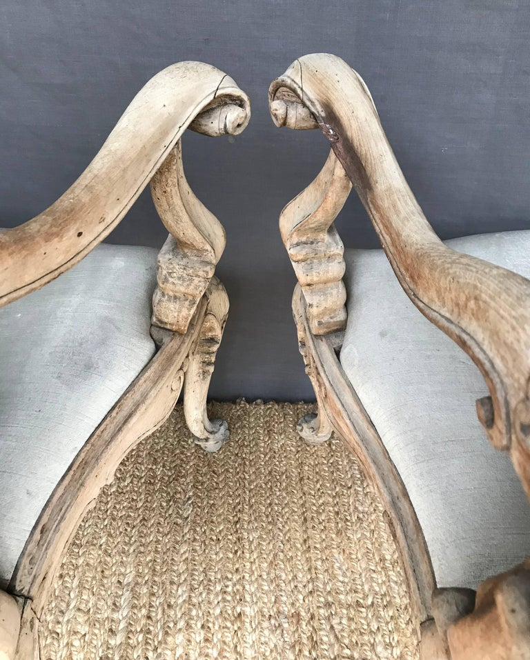18th Century Pair Venetian Louis XV Armchairs For Sale