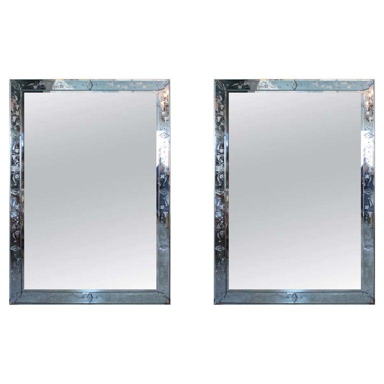 Pair of Venetian Mirror For Sale