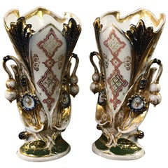 Pair of Vieux Paris Vases, French, 19th Century