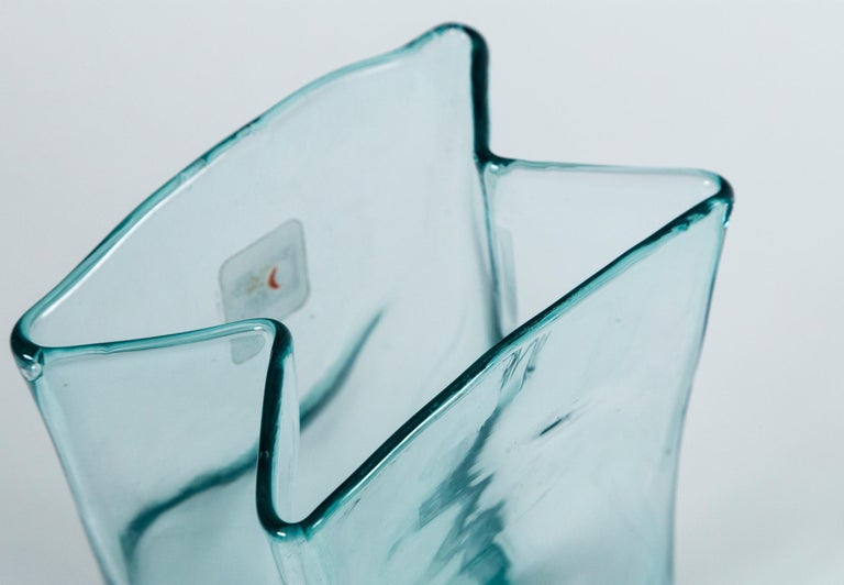 Pair of Vintage Blenko Glass Vases, circa 1960's In Good Condition For Sale In Chappaqua, NY