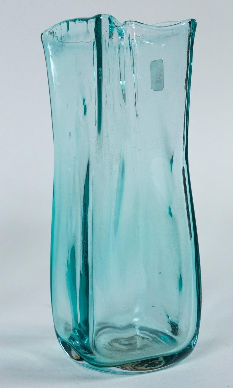 Pair of Vintage Blenko Glass Vases, circa 1960's For Sale 1
