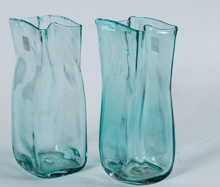 Pair of Vintage Blenko Glass Vases, circa 1960's For Sale 2