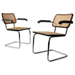 Pair of Vintage Cantilever Tube Chairs No. S64 by Marcel Breuer