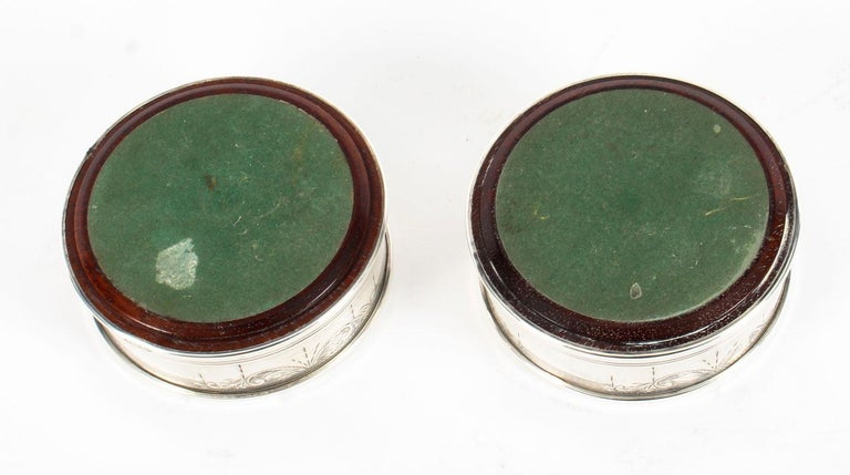 Pair of Vintage Circular Sterling Silver Coasters, Birmingham, 20th Century For Sale 2