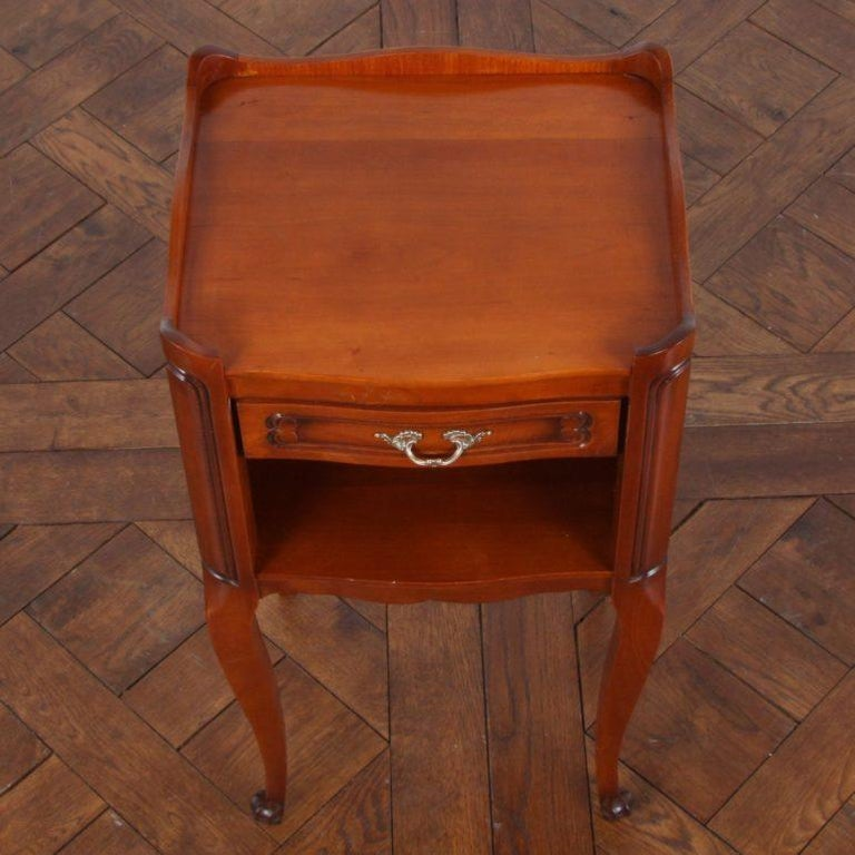 20th Century Pair of Vintage French Cherry Nightstands For Sale
