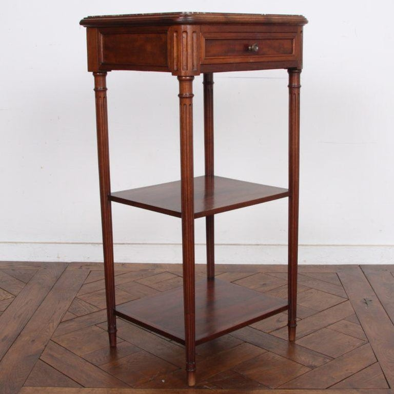 Pair of Vintage French Cherry Nightstands For Sale 1