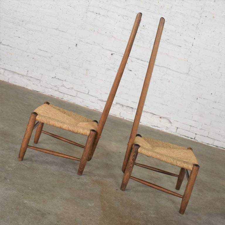 Pair of Vintage Fireside Ladderback Chairs by Gio Ponti for Casa e Giardino For Sale 3