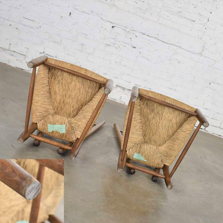 Pair of Vintage Fireside Ladderback Chairs by Gio Ponti for Casa e Giardino For Sale 6