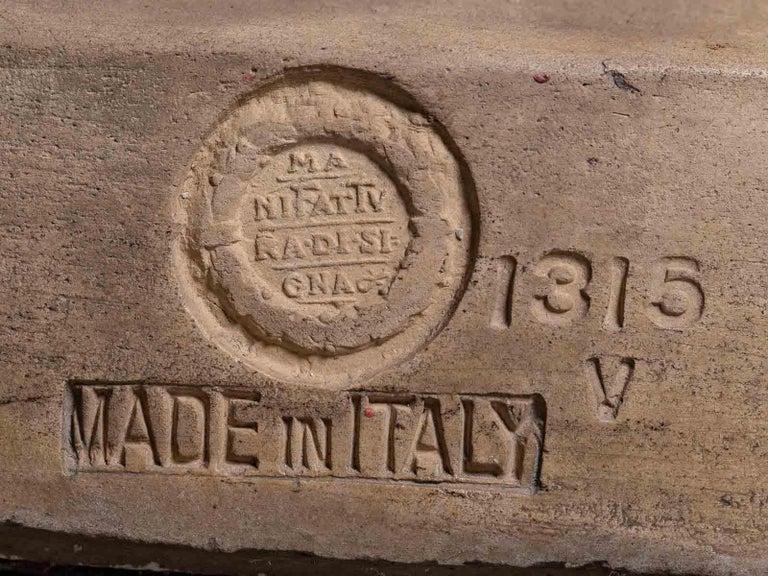 Pair Vintage Italian Terra Cotta Chairs circa 1930 by Manifattura di Signa For Sale 5