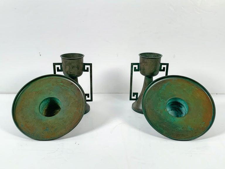 Pair of Vintage Japanese Bronze Usubata, Showa, Mid-20th Century, Japan For Sale 1