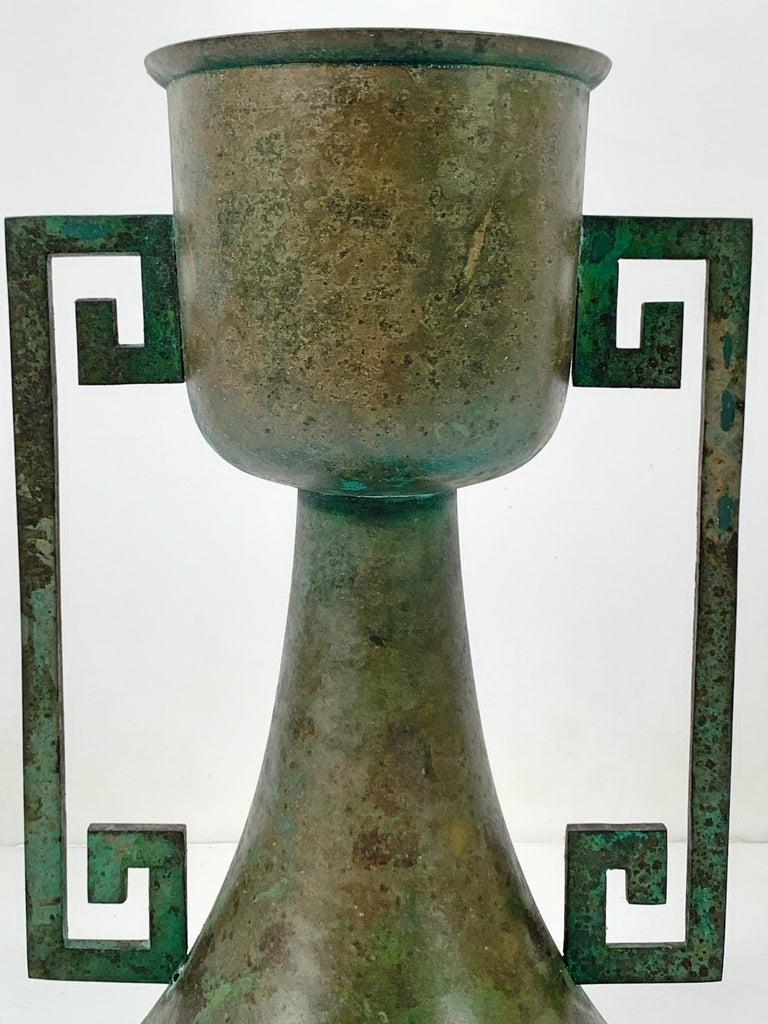 Pair of Vintage Japanese Bronze Usubata, Showa, Mid-20th Century, Japan For Sale 5
