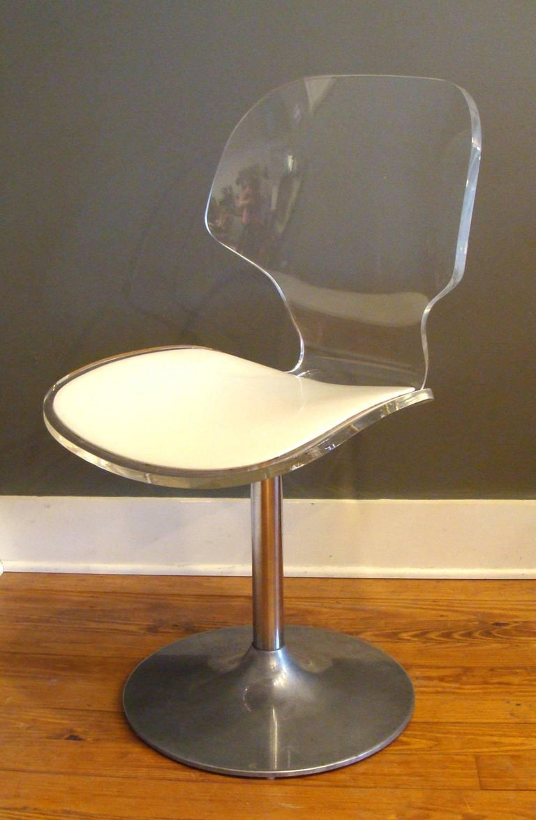 Pair Of Vintage Lucite Chairs With Table By Hill For Sale