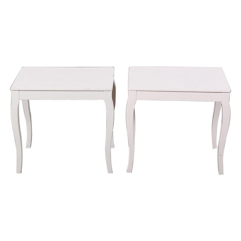 Pair of Vintage Mid 20th Century Swedish Painted Side Tables