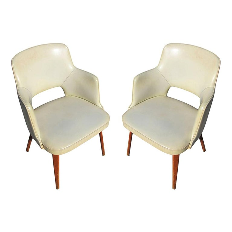 Pair of Vintage Thonet Armchairs For Sale