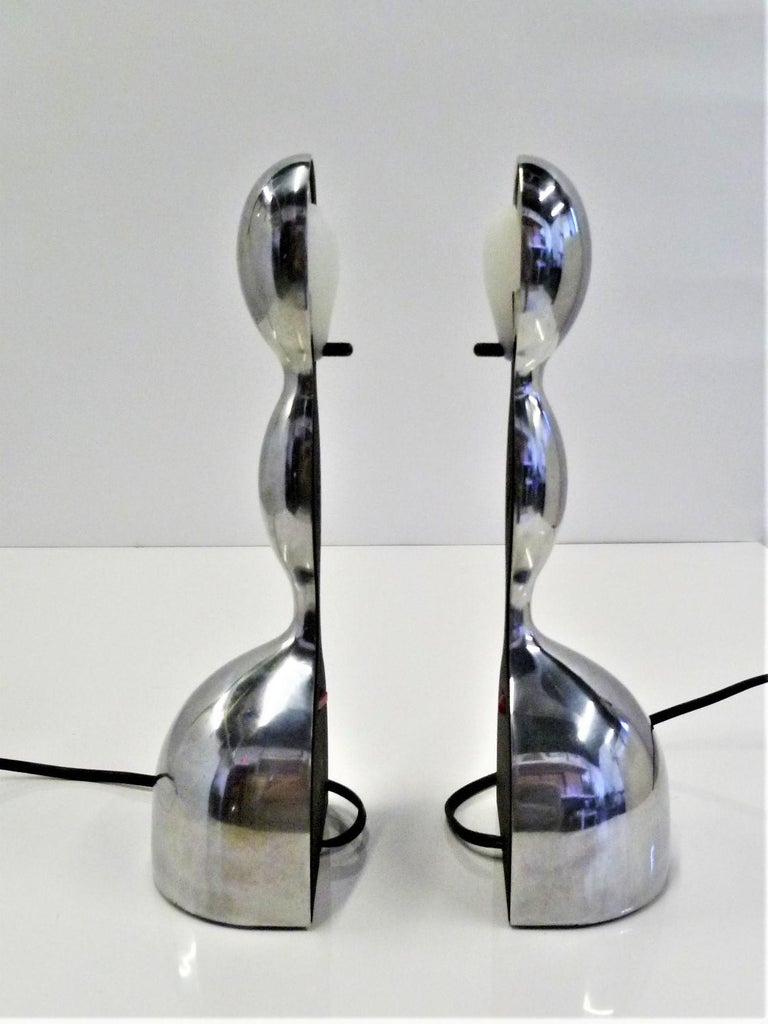 Post-Modern Pair of Virgo Space Age Modern Table Lamps by Ilaria Gibertini for Nemo, Italy For Sale