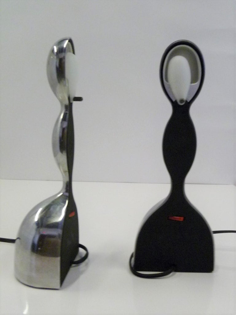 Italian Pair of Virgo Space Age Modern Table Lamps by Ilaria Gibertini for Nemo, Italy For Sale