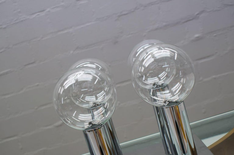 Glass Pair of Wall or Ceiling Lamps by Motoko Ishii for Staff, 1970s For Sale