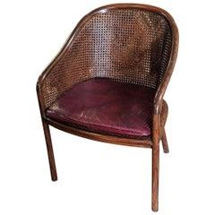 Pair of Ward Bennett Landmark Cane Armchairs for Brickel and Associates