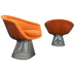 Pair of Warren Platner for Knoll Lounge Chairs Mid-Century Modern, 1978