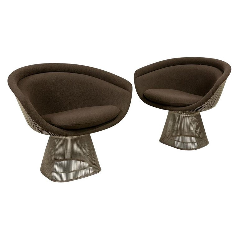 Pair Warren Platner Lounge Chairs For Sale