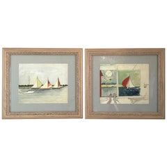 Pair of Watercolors Painted by Katherine Hepburn in Stratford Connecticut