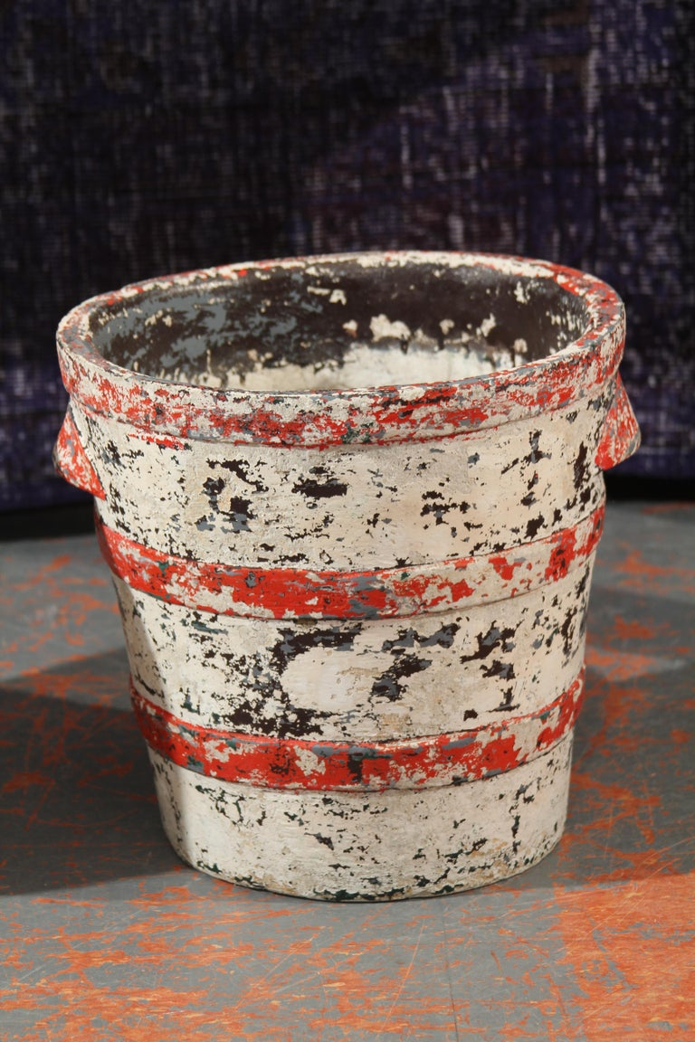 Swiss Pair of Willy Guhl Planters with Great Color and Patina For Sale