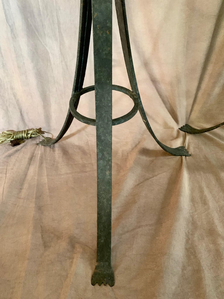Pair Wrought Iron Floor Lamps For Sale 3