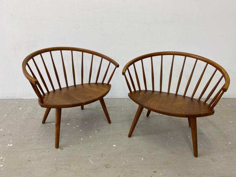 "Scandinavian Modern Pair of Yngve Ekstrom ""Arka"" Lounge Chairs For Sale"