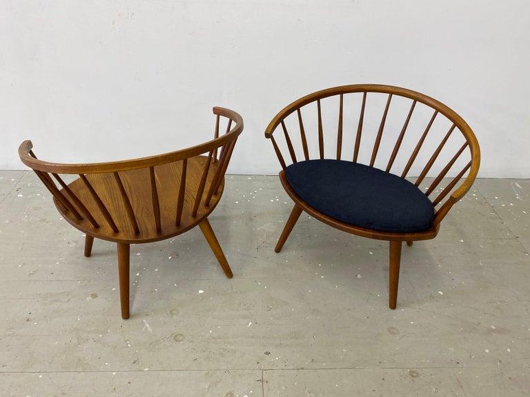 "Swedish Pair of Yngve Ekstrom ""Arka"" Lounge Chairs For Sale"