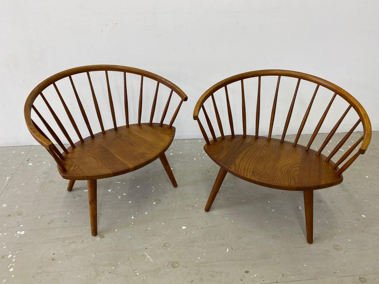 """Mid-20th Century Pair of Yngve Ekstrom """"Arka"""" Lounge Chairs For Sale"""