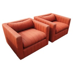 Pair of Zographos 87 Tuxedo Lounge Chair